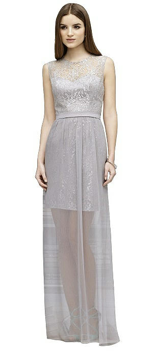 Lela Rose LR223 Long Sleeveless Lace