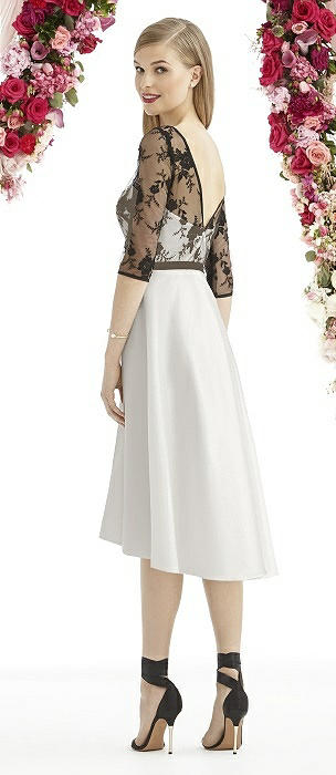 After Six 6746 Strapless Embroidered Lace Skirt