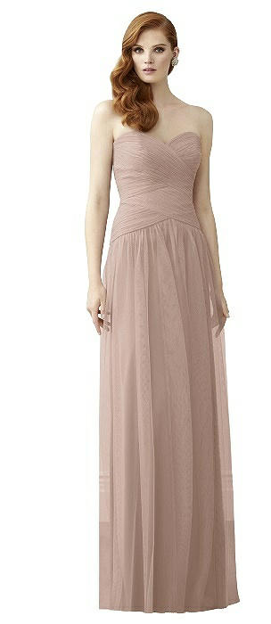 Dessy 2950 Long Strapless Sweetheart