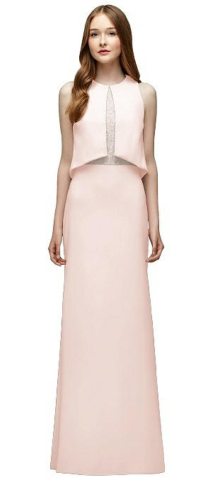 Lela Rose LR225 Long Sleeveless Trumpet Skirt