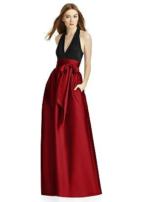 Studio Design 4501 Long Sleeveless Shirred Skirt
