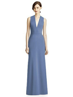 Lela Rose LR237 Sleeveless V-Neck Trumpet Skirt