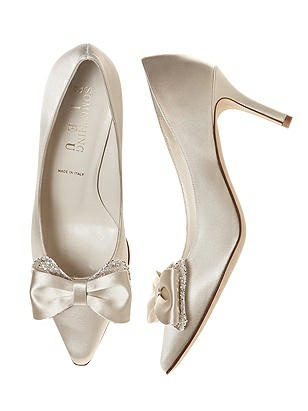Doxy Satin and Sparkle Bridal Pump