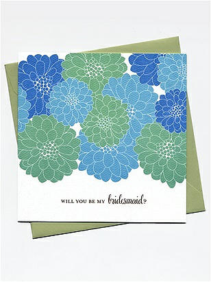 Will you be my bridesmaid? Cards - Cheerful Blossoms