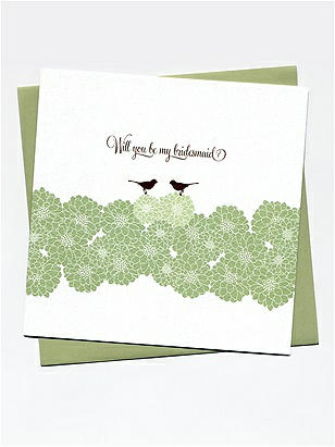 Will you be my bridesmaid? Cards - Blooms and Birds