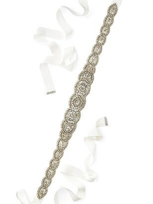 Tiffany- Scallop Edge Beaded Bridal Sash