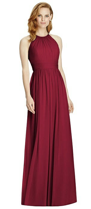 Studio Design Collection 4511 Full Length Halter Neckline Bridesmaid Dress